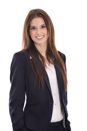 blazer: Smiling portrait of a young successful smiling business woman.
