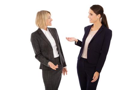 Deux isolé femme d'affaires à parler ensemble. Banque d'images - 33450328