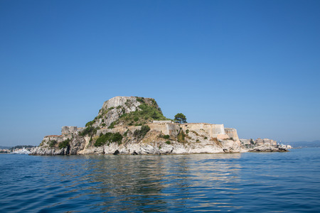 kerkyra: Fortress of Corfu city on the greek island of Kerkyra. Image from the sea.