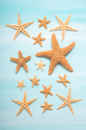 souvenir: Summertime: Maritime turquoise decoration with starfishes.