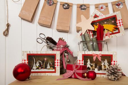 craft material tinker: Handmade advent calendar and writing christmas cards.