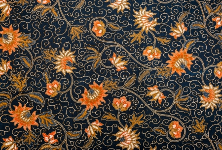 Royalty Free Beautiful Floral Batik Motifs