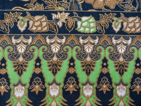 Royalty Free Green Batik Motifs