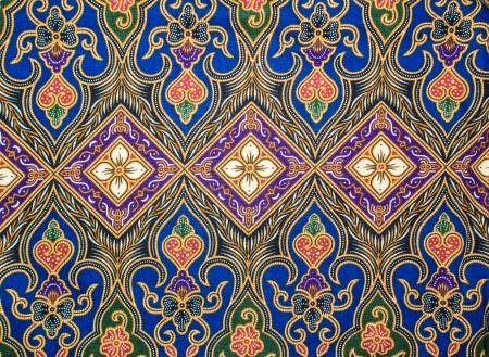 バティック パターンのモチーフ 写真素材