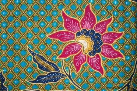 花のバティック パターン 写真素材