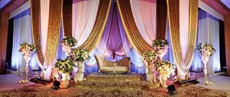 マレーの結婚式の祭壇のパノラマ