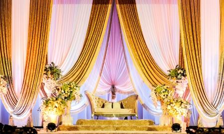 マレーの結婚式の祭壇