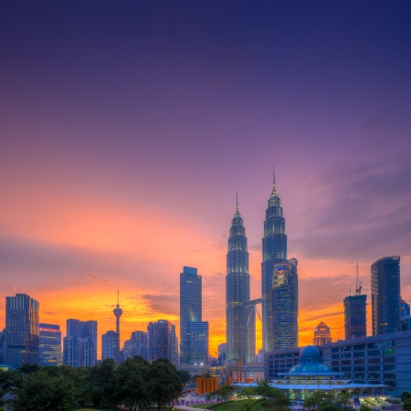 Petronas Towers at Blue Hour