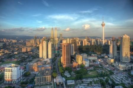 Sun Shining down on Kuala Lumpur
