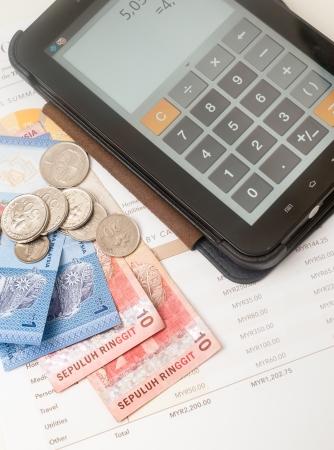 個人月次予算、マレーシア リンギット版