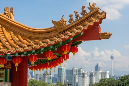 The beautiful chinese architecture of Thean Hou Temple, Kuala Lumpur 에디토리얼