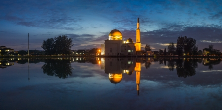 Panoramic of As Salam Mosque, Puchong before the first light