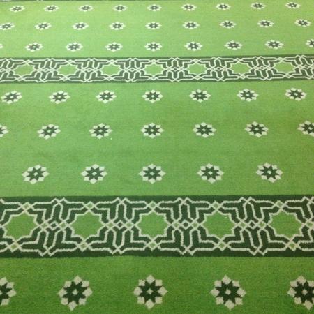 art: Green carpet patterns Stock Photo