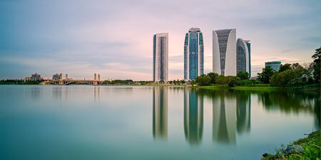 Four Buildings Reflected by a Lake, Putrajaya photo