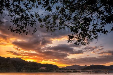 banding: Sunset at Banding Island, Royal Belum Rainforest Resort