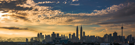 クアラルンプール都市景観日の出 写真素材