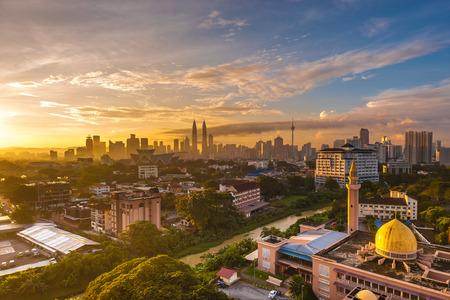 Kuala Lumpur Cityscape Sunrise 스톡 콘텐츠