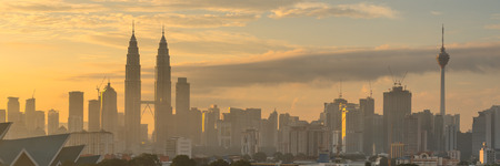 kuala lumpur city: Kuala Lumpur Cityscape Sunrise Stock Photo