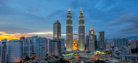 Sunset at Petronas Twin Towers