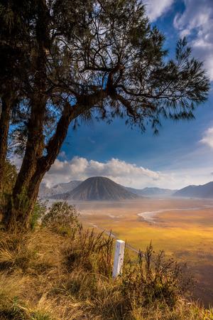 tengger: Mount Batok at Bromo Tengger Semeru National Park Stock Photo