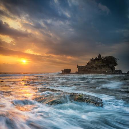 Sunset at Tanah Lot, Bali photo