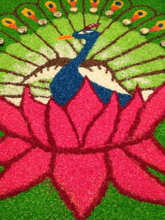decoration: Deepavalidiwali kolam decoration Stock Photo