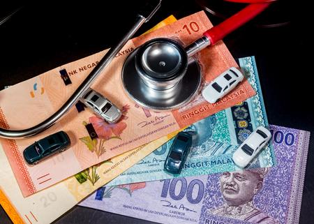 Financial HealthHire Purchase CarsInsurance Concept - Ringgit Malaysia