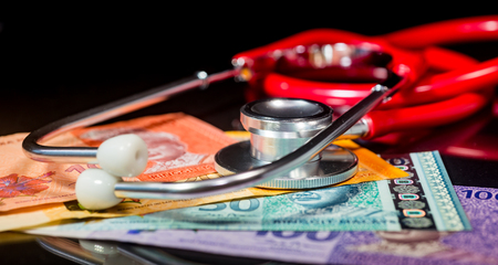 Financial Health/Insurance Concept - Ringgit Malaysia. Shallow depth of field Stock Photo - 86032087