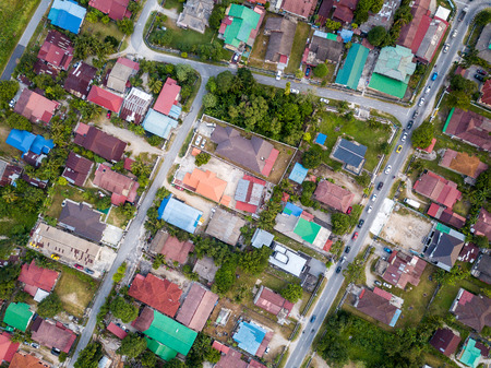 Aerial View - Top down view of residential area