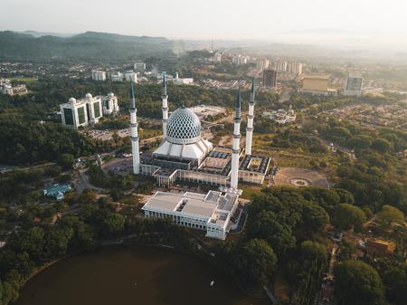 Aerial Panorama - Sultan Salahuddin Abdul Aziz Shah Mosque