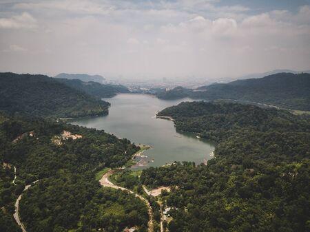 Aeria View - Lake and rainforest
