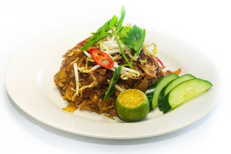 Asian Food - Fried Kuey Teow or Flat Rice Noodle