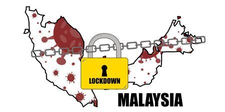 Malaysia Lockdown Covid-19 Coronavirus Concept