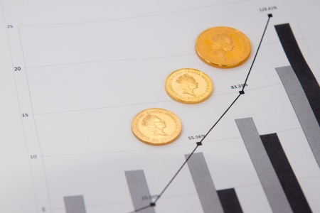 Britaania coins on charts photo