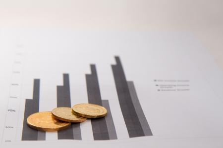 Britaania coins on charts photo