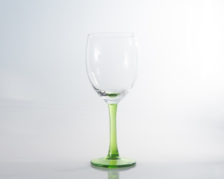 water splashing into a wineglass Stock Photo