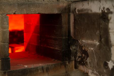 ceramicist: Ceramic Pottery Kiln Firing with cermaics inside