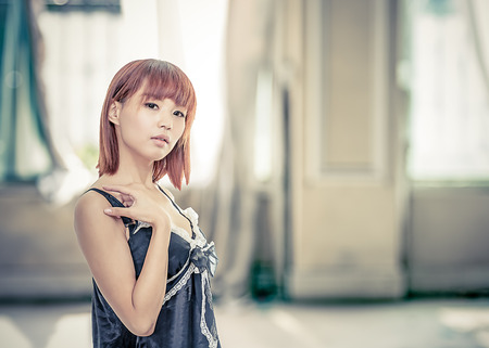 taiwanese: Taiwanese chinese female wearing lingerie