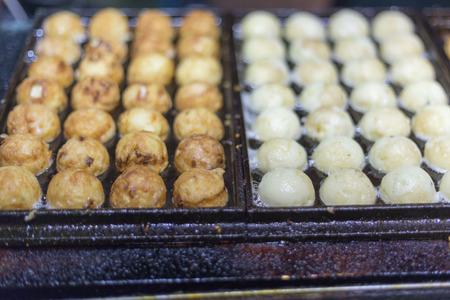 night market: Japanese Takoyaki at a night market in Taiwan Stock Photo