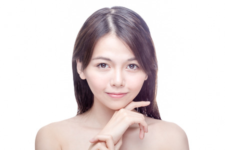 Chinese woman beauty portrait, healthy skincare concept Stock Photo