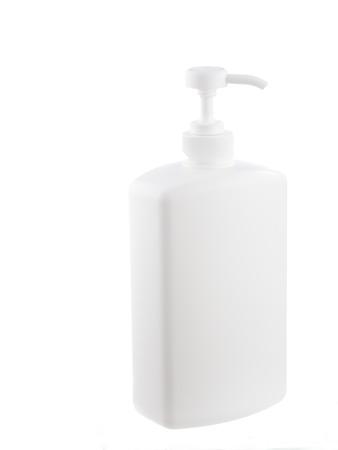 White liquid soap dispenser