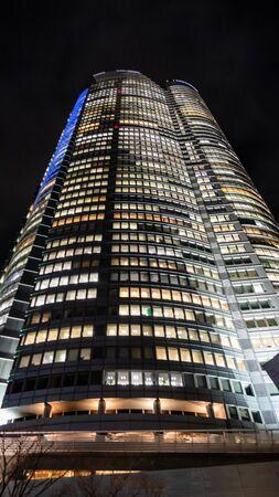 TOKYO, JAPAN - FEBRUARY 9, 2019: Roppongi Hills Mori Tower, night view. Editorial