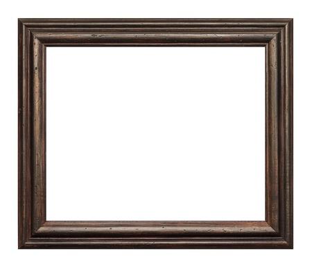 restauration: Aged antique  dark brown isolated frame Stock Photo