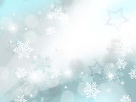 Beautiful winter digital drawing of snowflakes, stars and glitters   Stock Photo - 16964143
