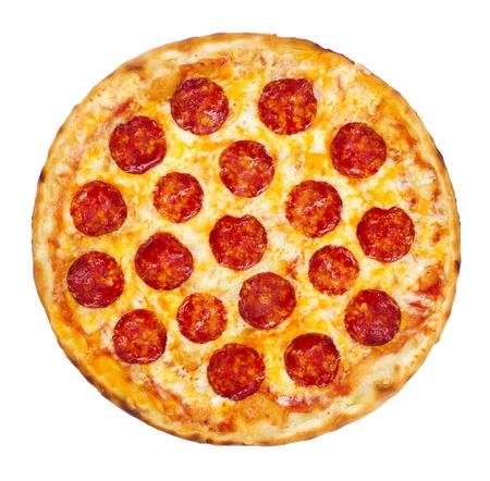 pizza: Lonchas pepperoni es una pizza muy usado como cobertura en pizzer�as al estilo americano