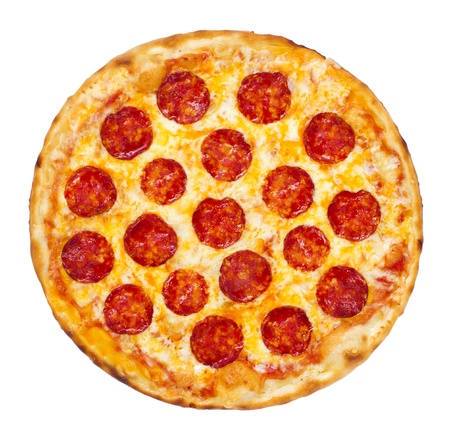 pepperoni pizza: Thinly sliced pepperoni is a popular pizza topping in American-style pizzerias
