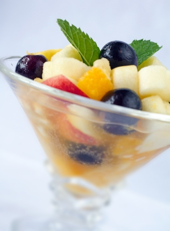 Fruit salad is a dish consisting of various kinds of fruit,  in their own juices or a syrup  Fruit salad is sometimes known as a fruit cocktail or fruit cup  photo