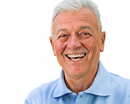 Handsome happy senior expressing positivity and satisfaction. See more of this model Stock Photo - 23956430