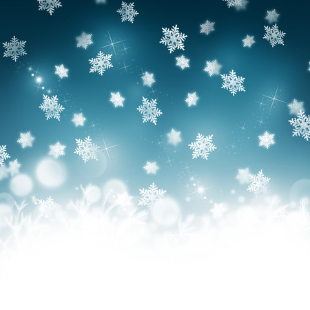 bellow: Dreamy Christmas and winter illustration with white copyspace bellow Stock Photo