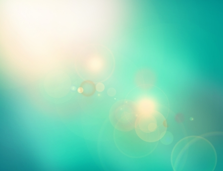 morning dew: Illustrated tranquil scene of a unknown space with light corner and lens flare